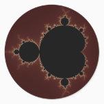 Mandelbrot Set 08 - Fractal Classic Round Sticker