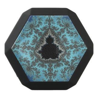 Mandelbrot Snowflake - baby blue fractal design Black Bluetooth Speaker