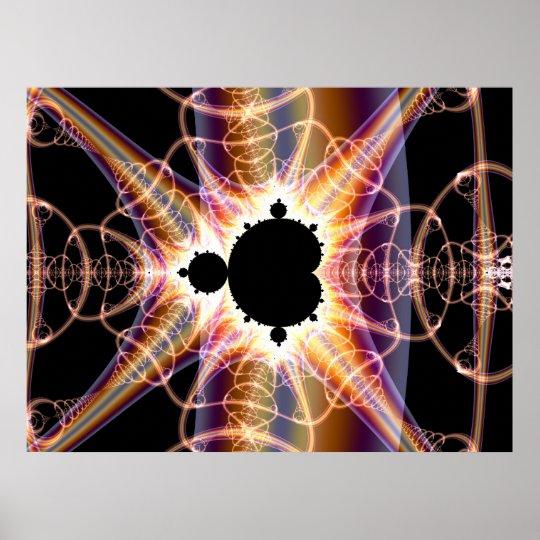 Mandelbrot : translucent poster