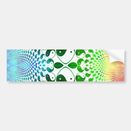 Mandelbrot Yin Yang Bumper Sticker