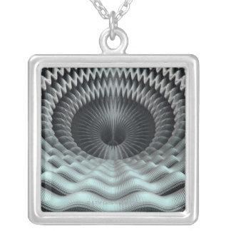 Mandelbulb Fractal Silver Plated Necklace