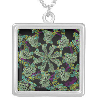 Mandelbulb Fractel 2 Silver Plated Necklace