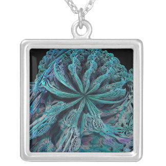 Mandelbulb Fractel 3 Silver Plated Necklace
