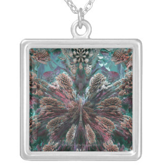 Mandelbulb Fractel Silver Plated Necklace