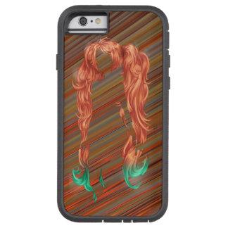 MANDELBULB STREAKS WOMAN HAIR CUT OUT TOUGH XTREME iPhone 6 CASE