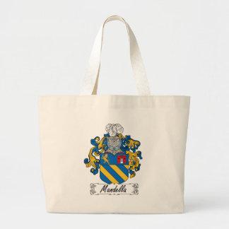 Mandella Family Crest Large Tote Bag