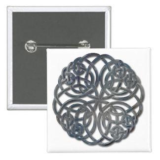 Mandella glass 2 inch square button
