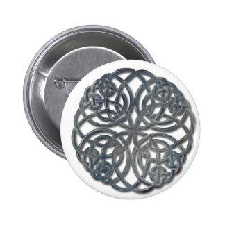 Mandella glass 2 inch round button