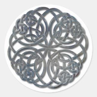 Mandella glass classic round sticker