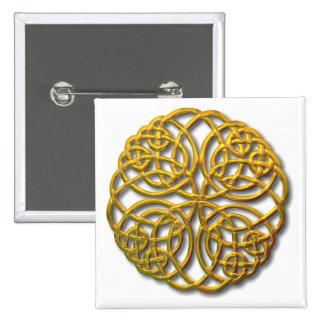 Mandella gold 2 inch square button
