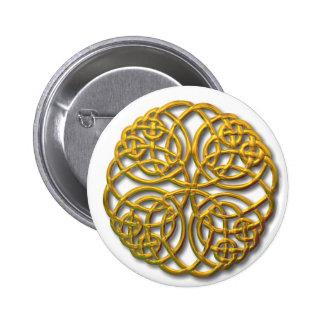 Mandella gold 2 inch round button