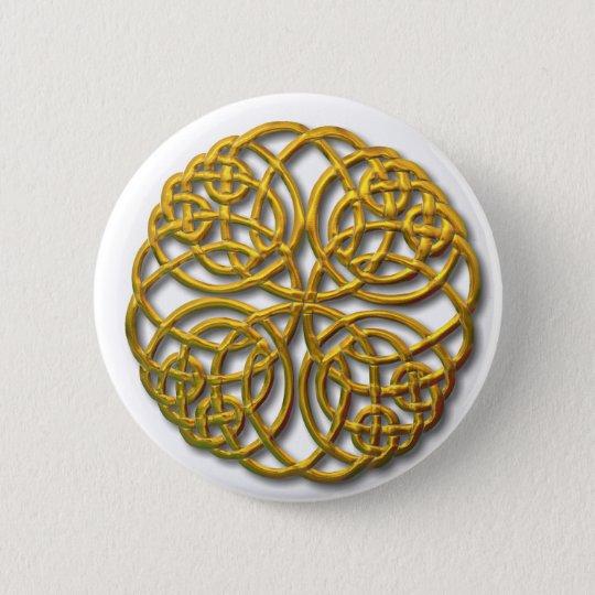 Mandella gold pinback button