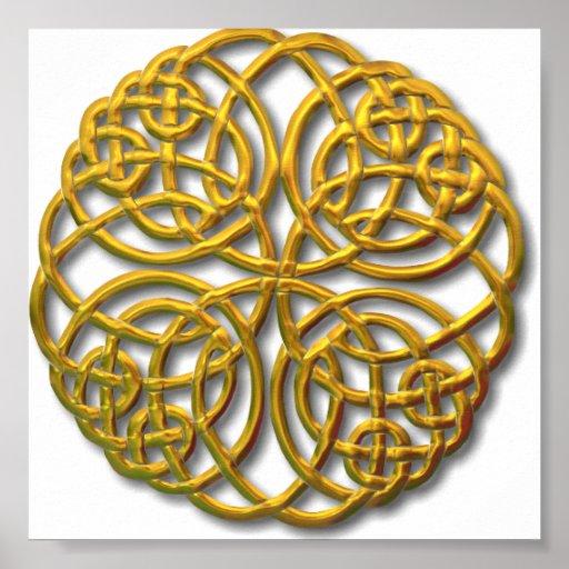 Mandella gold poster