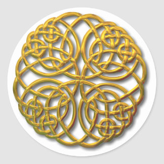 Mandella gold classic round sticker