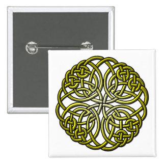 Mandella green 2 inch square button