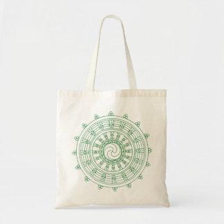 mandella green tote bag