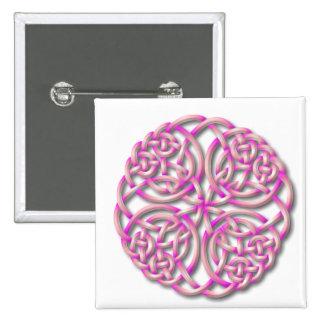 Mandella pink 2 inch square button