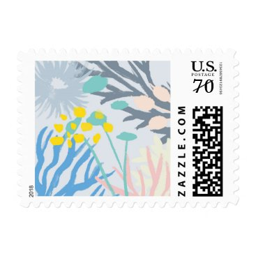 Beach Themed Manderley Light Wedding Stamp