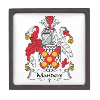 Manders Family Crest Premium Trinket Box