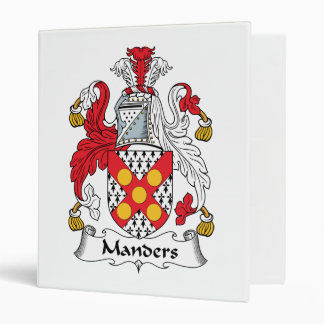 Manders Family Crest Vinyl Binders
