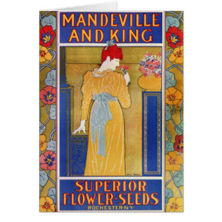 Mandeville and King seed catalog Greeting Card