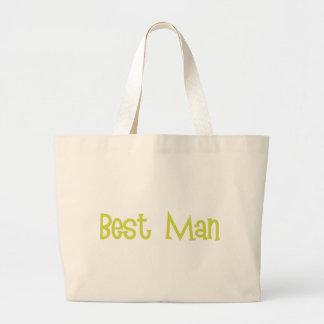 Mandi-BestMan-Ylw Large Tote Bag