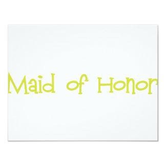 Mandi-MaidHonor-Ylw Invitación 10,8 X 13,9 Cm