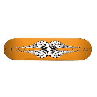 Mandible (Orange) Skateboard Deck