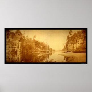 Mandíbulas de la foto 1894 de los Dells de Wiscons Impresiones