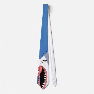 Mandíbulas del tiburón en un lazo del cuello corbatas personalizadas