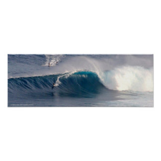Mandíbulas que practican surf el poster de la foto