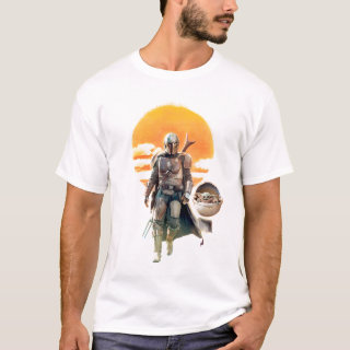 Mando and The Child | Sunset Walk T-Shirt