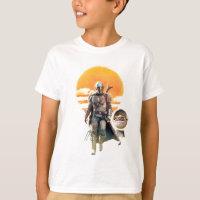 Mando and The Child | Sunset Walk T-Shirt
