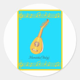 mandola classic round sticker