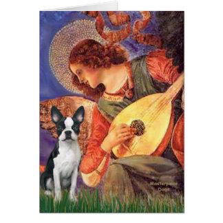 Mandolin Angel - Boston Terrier #1 Greeting Card