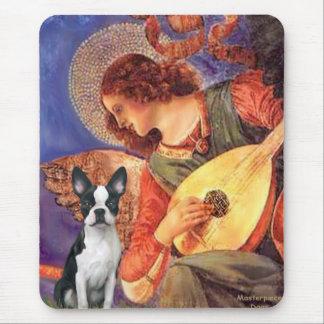 Mandolin Angel - Boston Terrier #1 Mouse Pad