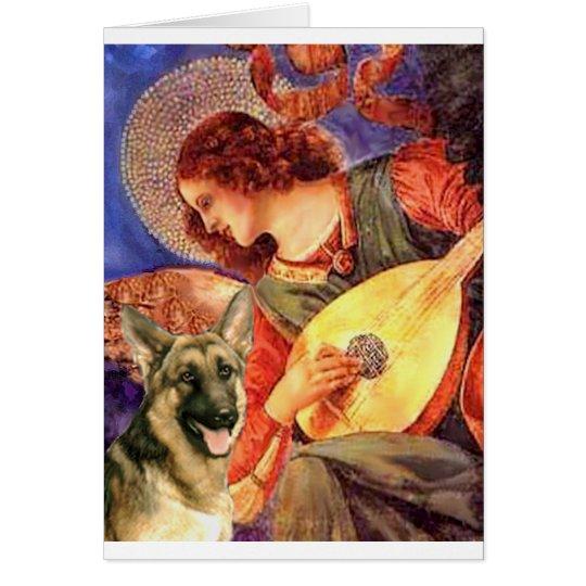 Mandolin Angel - German Shepherd 2 Card