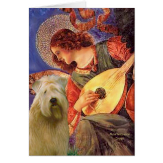 Mandolin Angel - Wheaten Terrier 2C Greeting Card