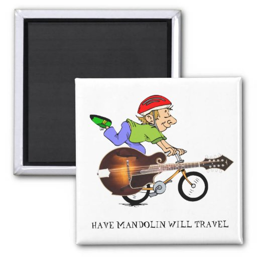 Mandolin Bike 2-inch Square Magnet