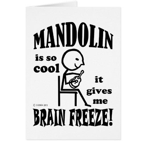 Mandolin, Brain Freeze Greeting Cards