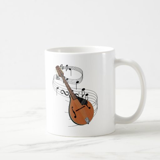 Mandolin Music Notes Coffee Mug