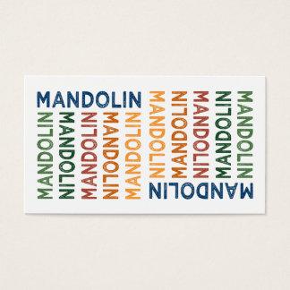 Mandolin Colorful Business Card