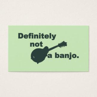Mandolin -- Definitely Not A Banjo Business Card