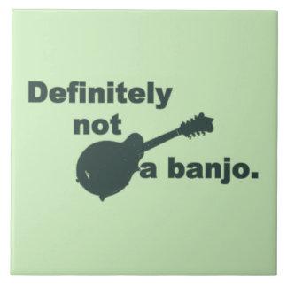 Mandolin -- Definitely Not A Banjo Ceramic Tile