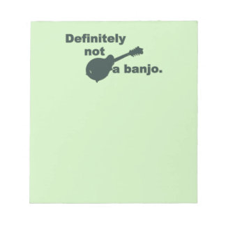 Mandolin -- Definitely Not A Banjo Notepad