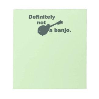 Mandolin -- Definitely Not A Banjo Memo Notepads