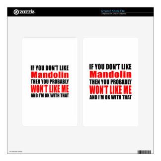 Mandolin Designs Skins For Kindle Fire