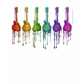 Mandolin F-style in Rainbow Colors shirt