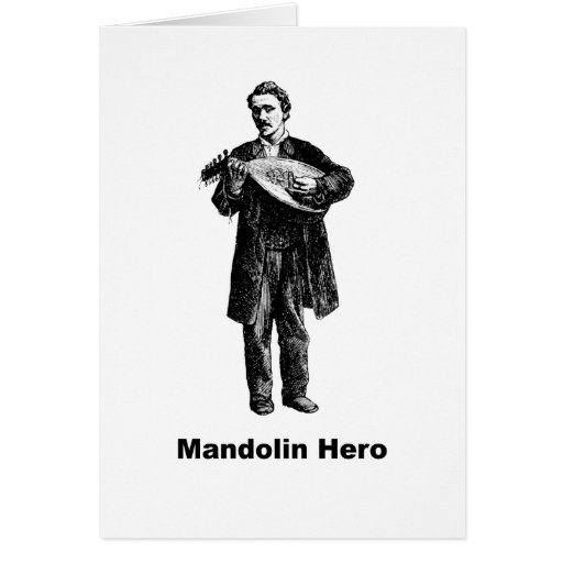 Mandolin Hero Greeting Card