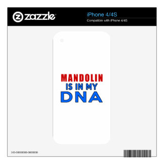 MANDOLIN  IS IN MY DNA SKIN FOR iPhone 4